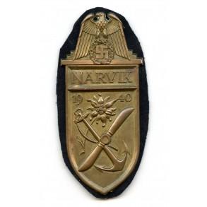 Narvik shield for Kriegsmarine troops, cupal