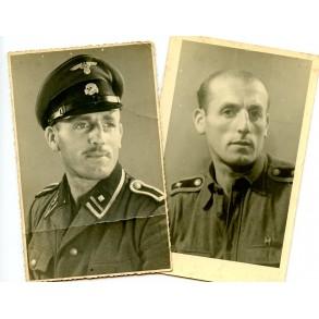 2 SS portraits SS-Scharführer Narva front 1944