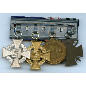 Medal bar with 25 + 40 year service awards