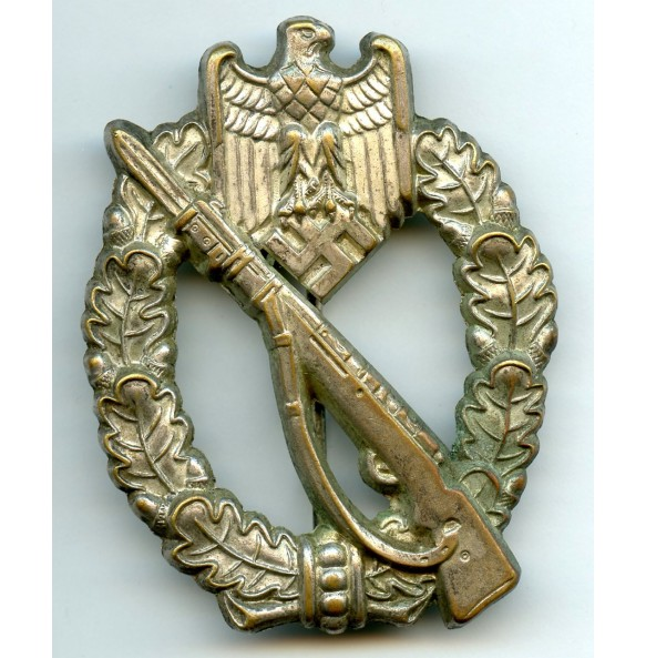 Infantry assault badge in silver by Schauerte & Höhfeld