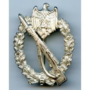 """Infantry assault badge in silver by Brüder Schneider """"BSW"""""""