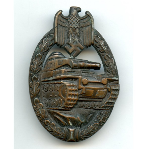 """Panzer assault badge in bronze by Dr. Franke & Co """"FCL"""""""