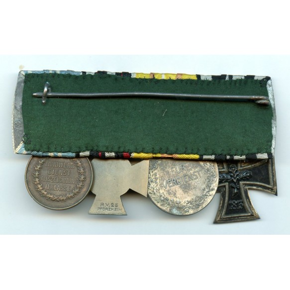 WW1 Imperial 4 place medal bar