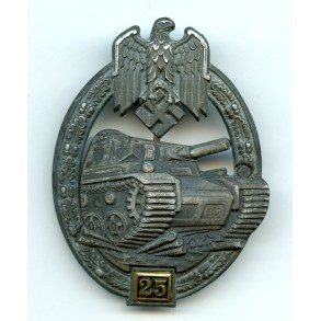 "Panzer assault badge 25 assaults by G. Brehmer ""GB"""