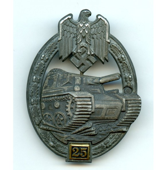 Panzer assault badge 25 assaults by Gustav Brehmer