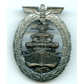 Kriegsmarine High Seas Fleet badge by Schwerin Berlin