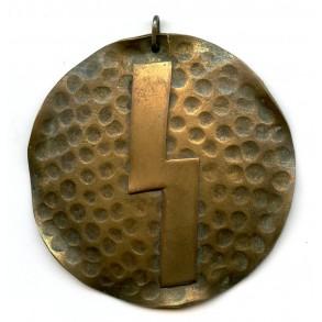 HJ/DJ handmade broach with chain attachment