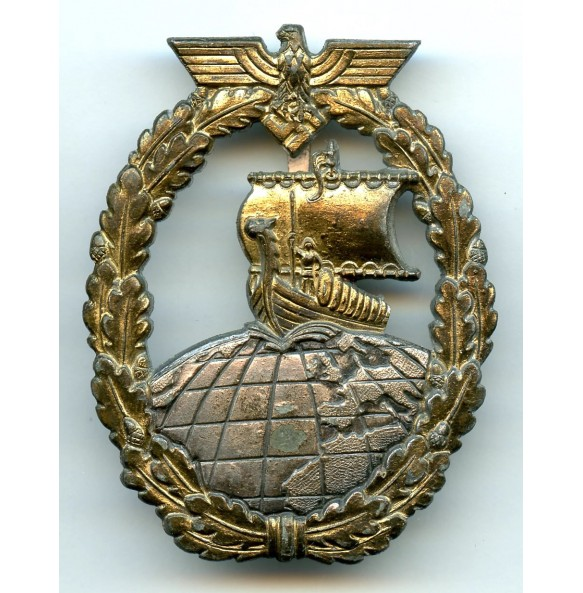 Kriegsmarine auxiliary cruiser badge by Foerster & Barth