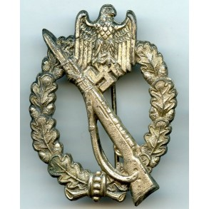 Infantry assault badge in silver by R. Souval