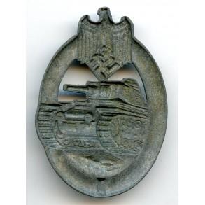 """Panzer assault badge in silver """"Deschler prototype"""""""