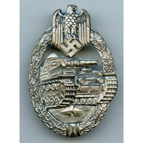 "Panzer assault badge in silver by Edelmetallwerke List & Hertl ""EWE"""