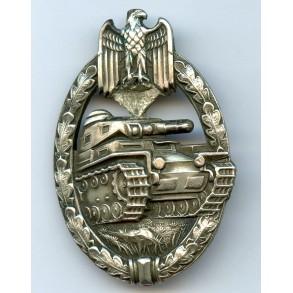 Panzer assault badge in silver by C.E. Juncker