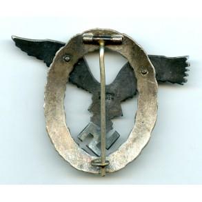 """Luftwaffe pilot badge by C.E. Juncker """"J2"""""""