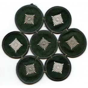 Rank patch for Oberschütze 7 pieces sewn together