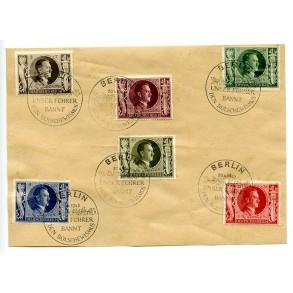 6 Adolf Hitler stamps, anti bolsjewism campaign, Berlin 1943