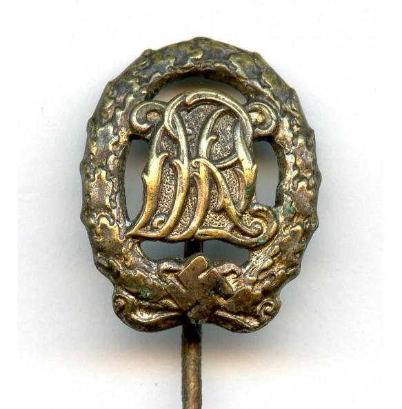 DRL sport badge in silver 16 mm miniature by Wernstein