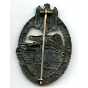 Panzer assault badge in bronze by C.E. Juncker
