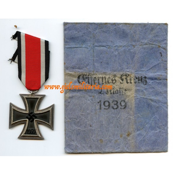 "Iron cross 2nd class by F. Reischauer ""132"" + Reischauer package!"
