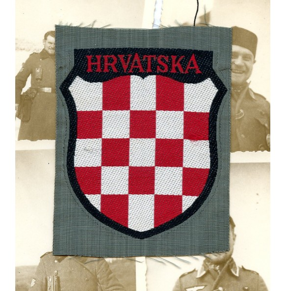 Kroatian army volunteer sleeve shield by Bevo