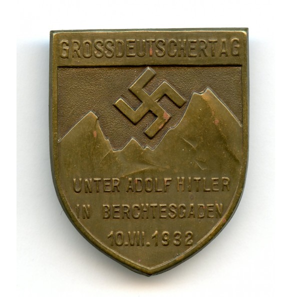 """Tinnie """"1932 Grossdeutschertag, Unter Adolf Hitler in Berchtesgaden"""" by Deschler & Sohn"""