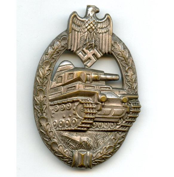 """Panzer assault badge in silver by """"A.S."""""""