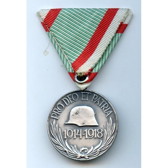 Hungarian 1914-1914 commemorative medal, austrian mount