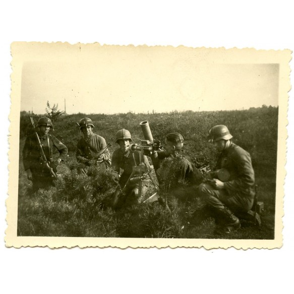 Private snapshot army mortar team