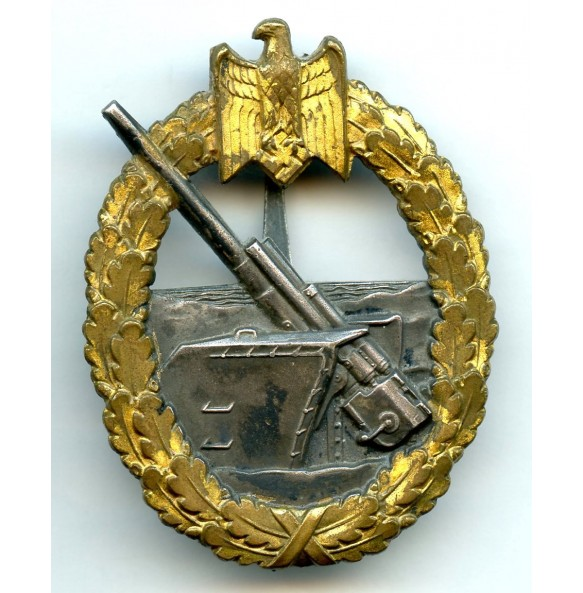 Kriegsmarine coastal artillery badge by Schwerin Berlin
