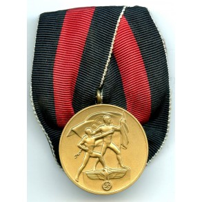 Czech annexation medal, single mounted
