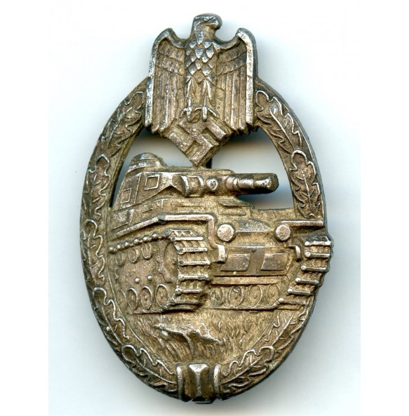 "Panzer assault badge in silver by Karl Wurster ""KWM"""