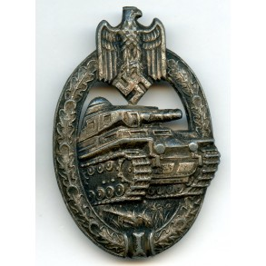 Panzer assault badge in silver by A.S.