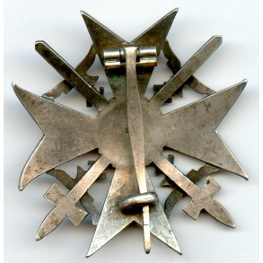 """Spanish cross in silver with swords """"900"""""""