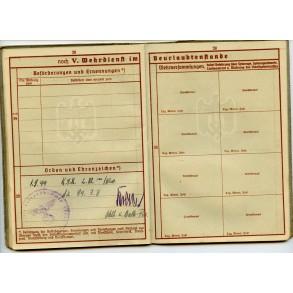 Wehrpass to M. Windorfer, Art. Reg. 194,  battle of Apennines, Cassino 1944