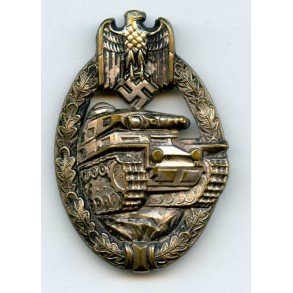 Panzer assault badge in silver by Schauerte & Höhfeld