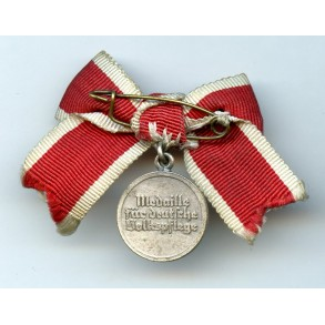 Social welfare medal with swords miniature