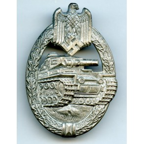 "Panzer assault badge in silver ""Rocky"" ""L/10"""