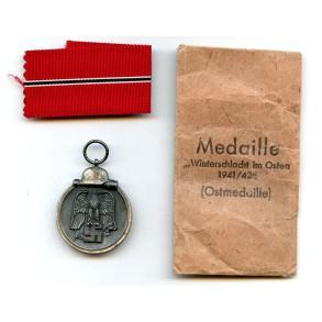 "East front medal by Steinhauer & Lück ""4"" + package"