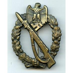 "Infantry Assault Badge in Bronze by Josef Feix & Söhne ""JFS"""