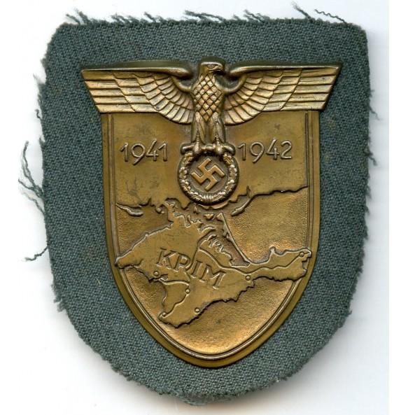 Krim shield on gabardine cloth