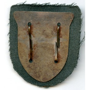 Krim shield on gabardine cloth