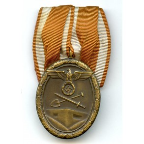 Westwall medal single mounted