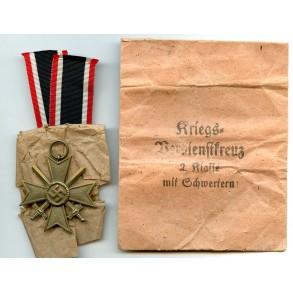 War merit cross 2nd class by F. Hermann & Co + package