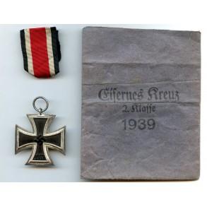 "Iron cross 2nd class by Rudolf Wächtler & Lange ""100"" + package"