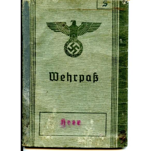 Wehrpass to F. Schmiedl, Pz. Rgt. 29, EK2, KIA Kurland 1944