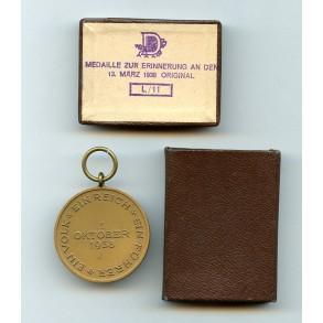Czech annexation medal + LDO matchbox by W. Deumer