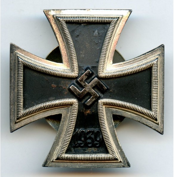 """Iron Cross 1st class by B.H. Mayer """"L/18"""" with screwback"""