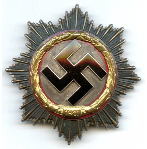 German Cross in gold by Deschler & Sohn, 6 rivets Deschler