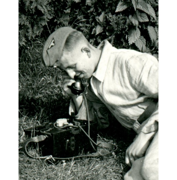 Private snapshot SS-VT soldier with field telephone