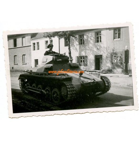 Private snapshot Panzer I in action, Uffz. Sandrock