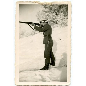 Private snapshot soldier in winter camouflage